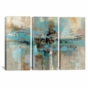 Morning Fjord by Silvia Vassileva Triptych Gallery Wrapped Canvas Artwork - 60''W x 40''H x 0.75''D [WAC1383-3PC3-60X40-ICAN]