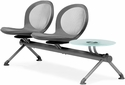 Net 2 Seats and 1 Glass Table Beam - Gray [NB-3G-GRAY-MFO]