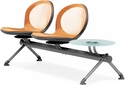 Net 2 Seats and 1 Glass Table Beam - Orange [NB-3G-ORANGE-MFO]