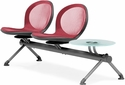 Net 2 Seats and 1 Glass Table Beam - Red [NB-3G-RED-MFO]