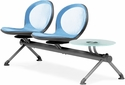 Net 2 Seats and 1 Glass Table Beam - Sky Blue [NB-3G-SKYBLUE-MFO]