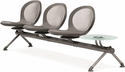 Net 3 Seats and 1 Glass Table Beam - Gray [NB-4G-GRAY-MFO]
