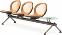 Net 3 Seats and 1 Glass Table Beam - Orange [NB-4G-ORANGE-MFO]