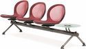 Net 3 Seats and 1 Glass Table Beam - Red [NB-4G-RED-MFO]