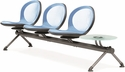 Net 3 Seats and 1 Glass Table Beam - Sky Blue [NB-4G-SKYBLUE-MFO]