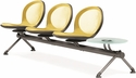 Net 3 Seats and 1 Glass Table Beam - Yellow [NB-4G-YELLOW-MFO]