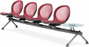 Net 4 Seats and 1 Glass Table Beam - Red [NB-5G-RED-MFO]
