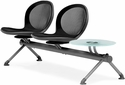 Net 2 Seats and 1 Glass Table Beam - Black [NB-3G-BLACK-MFO]