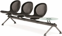 Net 3 Seats and 1 Glass Table Beam - Black [NB-4G-BLACK-MFO]