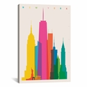 New York City by Yoni Alter Gallery Wrapped Canvas Artwork with Floating Frame - 19''W x 27''H x 1.5''D [YAL57-1PC6-26X18-FF01-ICAN]