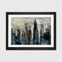 New York Moment by Silvia Vassileva Artwork on Fine Art Paper with Black Matte Hardwood Frame - 32''W x 24''H x 1''D [WAC1319-1PFA-32X24-FM01-ICAN]