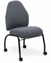 Next Side Chair with Low Backrest and Four Leg Base with Casters - Grade B [NX-L-4-GRDB-FS-ADI]