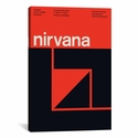 Nirvana at Community World: March 19th,1988 by Swissted Gallery Wrapped Canvas Artwork with Floating Frame - 19''W x 27''H x 1.5''D [SWI11-1PC6-26X18-FF01-ICAN]