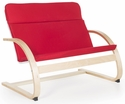 Nordic Couch with Removable Cushion and Steam-Bent Plywood Construction - Red - 36''W x 24''D x 30''H [G6451K-FS-GUI]