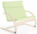 Nordic Couch with Removable Cushion and Steam-Bent Plywood Construction - Sage Green - 36''W x 24''D x 30''H [G6613K-FS-GUI]
