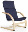 Nordic Rocker with Removable Cushion and Steam-Bent Plywood Construction - Blue - 20''W x 24''D x 30''H [G6440K-FS-GUI]