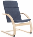 Nordic Rocker with Removable Cushion and Steam-Bent Plywood Construction - Denim - 20''W x 24''D x 30''H [G6611K-FS-GUI]
