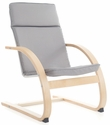 Nordic Rocker with Removable Cushion and Steam-Bent Plywood Construction - Gray - 20''W x 24''D x 30''H [G6612K-FS-GUI]
