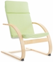Nordic Rocker with Removable Cushion and Steam-Bent Plywood Construction - Sage Green - 20''W x 24''D x 30''H [G6610K-FS-GUI]