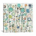 Ocean Garden I Square by Candra Boggs Gallery Wrapped Canvas Artwork - 18''W x 18''H x 0.75''D [WAC157-1PC3-18X18-ICAN]