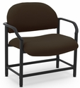 Lakeport 29.5'' W x 34.5'' H 700 Lb. Capacity Guest Chair - Open House Coffee Bean [E-18520-BA-2083-FS-EOF]