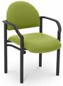 Lakeport 23.38'' W x 20'' D x 18.5'' H 250Lb. Capacity Guest Stack Chair - Open House Green Apple [E-18520-2087-EOF]