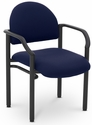 Lakeport 23.38'' W x 20'' D x 18.5'' H 250Lb. Capacity Guest Stack Chair - Open House Midnight [E-18520-2025-EOF]
