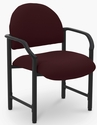 Lakeport 27'' W x 26.5'' D x 35'' H 400 Lb. Capacity Guest Chair - Open House Mulberry [E-18520-HD-2044-FS-EOF]