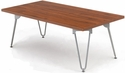 Orleans 47.75'' W x 23.75'' D x 16.5'' H Coffee Table with Silver Frame - Chestnut [E-22001-COF-SF-FS-EOF]