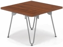 Orleans 23.75'' W x 16.5'' H End Table with Silver Frame - Chestnut [E-22000-END-SF-FS-EOF]