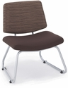 Orleans 400 Lbs Capacity Guest Chair - Back in Underground Earth and Seat in Open House Coffee Bean [E-21300-SF-6183-FS-EOF]