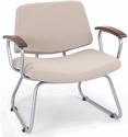 Orleans Guest Chair - Chestnut Arms and Back and Seat in Open House Angora [E21400-SF-35CA-FS-EOF]