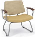 Orleans Guest Chair - Chestnut Arms and Back in Underground Champagne with Seat in Vista Sandstone [E21400-SF1011CA-FS-EOF]