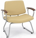Orleans Guest Chair - Chestnut Arms with Seat and Back in Vista Sandstone [E21400-SFVIS11CA-FS-EOF]