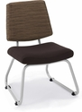 Orleans 250 Lbs Capacity Guest Chair - Back in Underground Earth with Seat in Open House Coffee Bean [E-21200-SF-6183-FS-EOF]