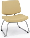 Orleans 400 Lbs Capacity Guest Chair - Seat and Back in Vista Vinyl Sandstone [E21300-SF-VIS11-FS-EOF]