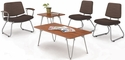 Orleans Reception Set with Two Tables and Three Sled Base Guest Chairs [E-21400-SFG36183-FS-EOF]