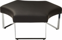 OSP Furniture Meetup Lounge Module with Chrome Legs - Black [MUP51-R107-FS-OS]