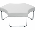 OSP Furniture Meetup Lounge Module with Chrome Legs - White [MUP51-R101-FS-OS]