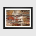 Painted Desert by Silvia Vassileva Artwork on Fine Art Paper with Black Matte Hardwood Frame - 24''W x 16''H x 1''D [WAC1391-1PFA-24X16-FM01-ICAN]