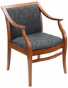 Paris Indoor Office Chair with Gray Pattern Fabric Seat and Back - Cherry Wood Finish [PARIS-CHERRY-GRAY-PATTERN-FABRIC-FLS]