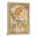 Parisian Flowers I by Danhui Nai Gallery Wrapped Canvas Artwork with Floating Frame - 19''W x 27''H x 1.5''D [WAC266-1PC6-26X18-FF01-ICAN]