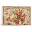 Parisian Flowers III by Danhui Nai Gallery Wrapped Canvas Artwork with Floating Frame - 27''W x 19''H x 1.5''D [WAC268-1PC6-26X18-FF01-ICAN]
