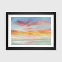 Pastel Sky by Danhui Nai Artwork on Fine Art Paper with Black Matte Hardwood Frame - 24''W x 16''H x 1''D [WAC4349-1PFA-24X16-FM01-ICAN]