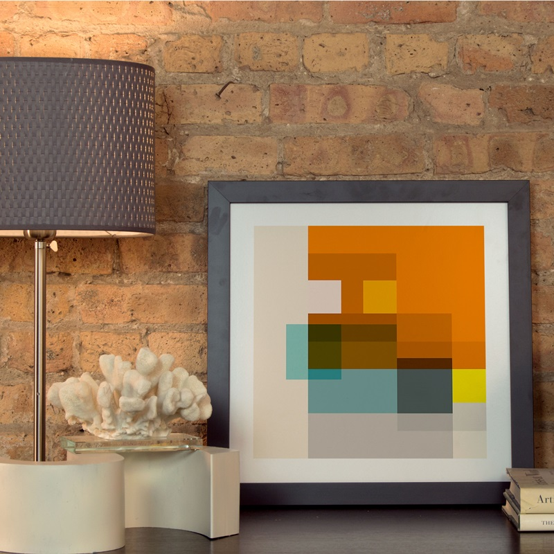 square by richard blanco artwork on fine art paper with black matte hardwood frame x x