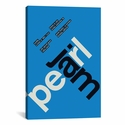 Pearl Jam at Greek Theatre (UC-Berkley): October 31st,1993 by Swissted Gallery Wrapped Canvas Artwork with Floating Frame - 19''W x 27''H x 1.5''D [SWI12-1PC6-26X18-FF01-ICAN]