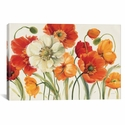 Poppies Melody I by Lisa Audit Gallery Wrapped Canvas Artwork - 26''W x 18''H x 0.75''D [WAC721-1PC3-26X18-ICAN]