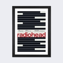 Radiohead at The Warfield: July 27th,1997 by Swissted Artwork on Fine Art Paper with Black Matte Hardwood Frame - 24''W x 32''H x 1''D [SWI15-1PFA-32X24-FM01-ICAN]