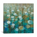 Rain Drops by Danhui Nai Gallery Wrapped Canvas Artwork - 18''W x 18''H x 0.75''D [WAC4351-1PC3-18X18-ICAN]