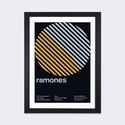 Ramones at Fender's Ballroom: September 19th,1986 by Swissted Artwork on Fine Art Paper with Black Matte Hardwood Frame - 16''W x 24''H x 1''D [SWI16-1PFA-24X16-FM01-ICAN]